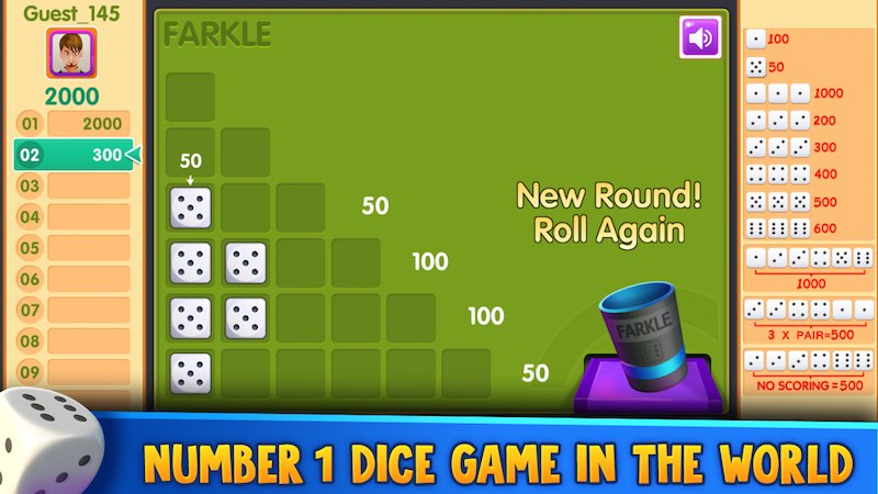 Farkle | Play Free Online Board Games at games2master com