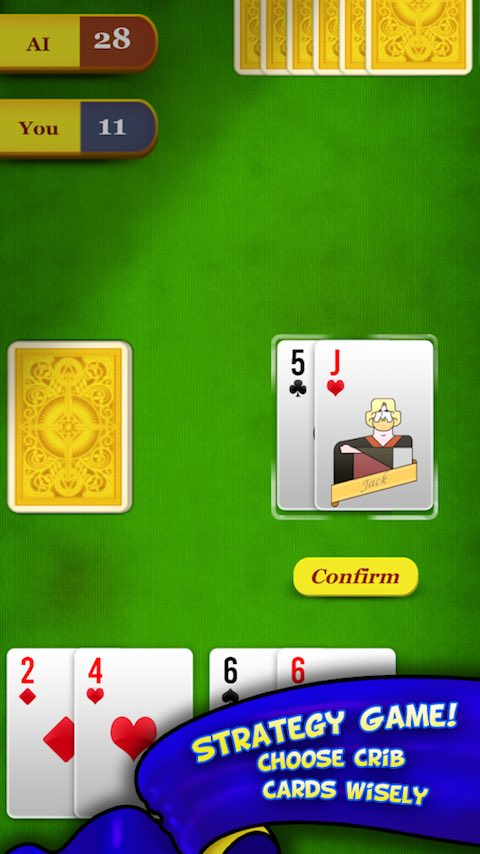 Cribbage Play Free Online Card Games At Games2master Com