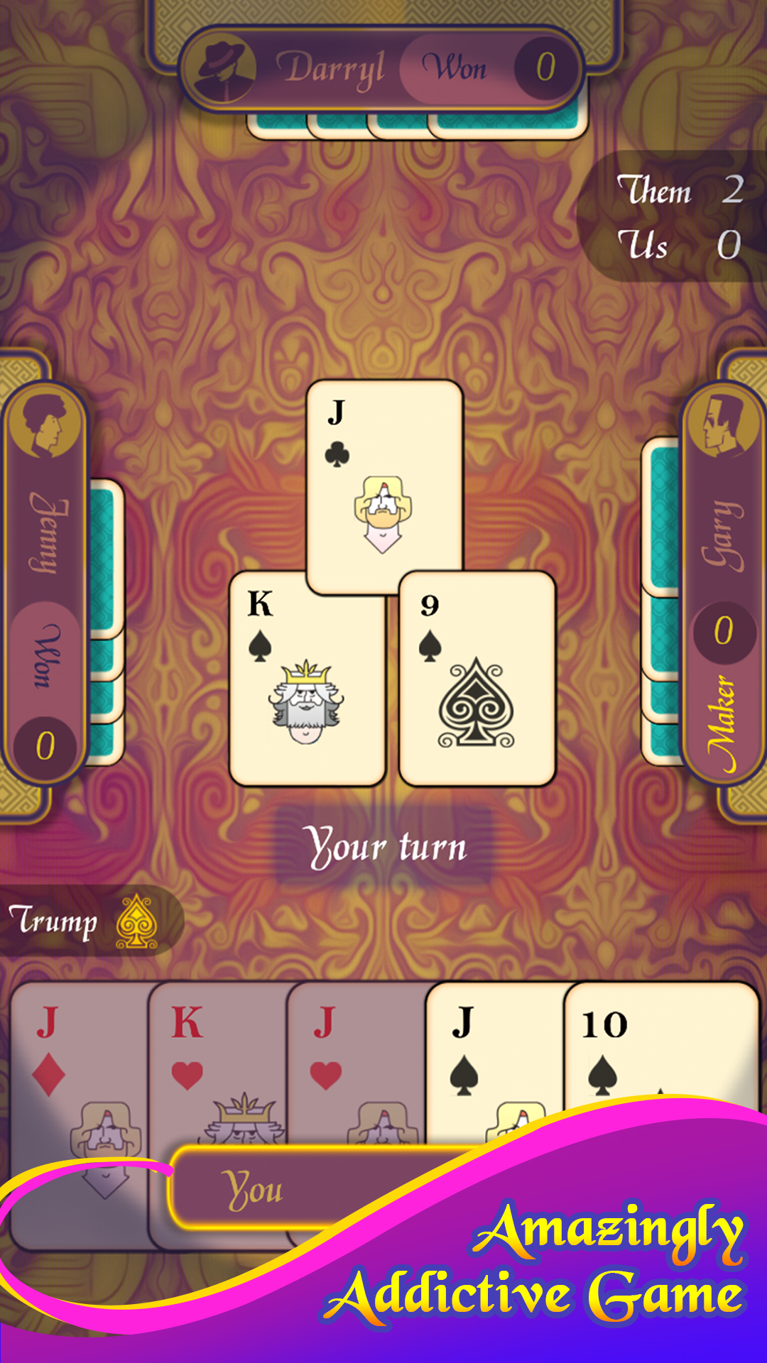 Euchre Play Free Online Card Games At Games2master Com